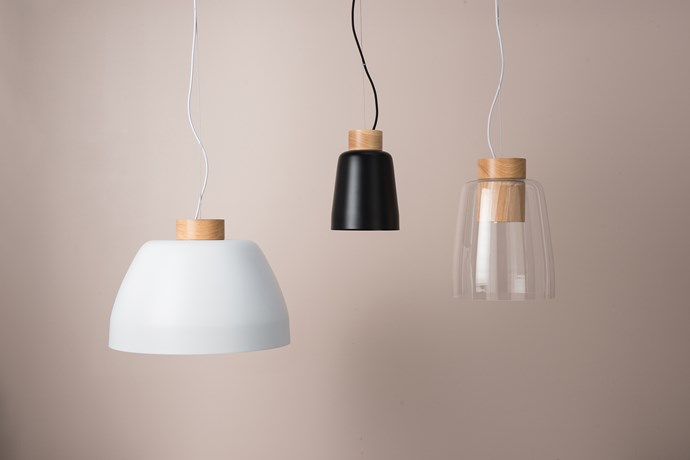 Ombre pendant lights, from $299 each.