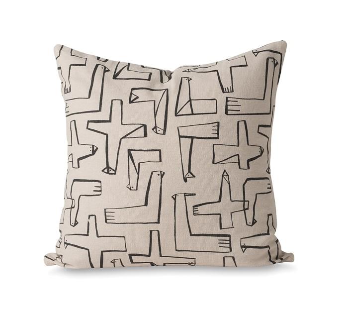 Condor printed cushion cover, $69.90.