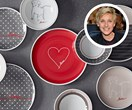 Ellen DeGeneres spreads the love with her own tableware collection