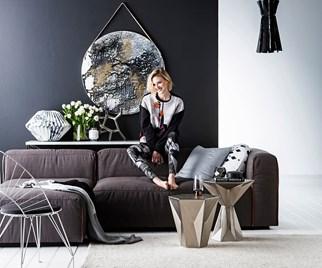 metallic interior decor