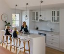 White kitchen design with warmth
