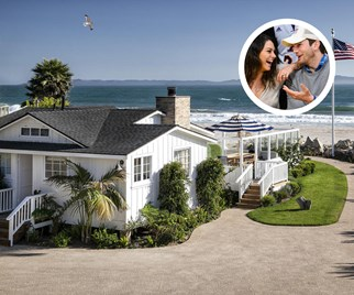 Mila Kunis and Ashton Kutcher Santa Barbara beach house