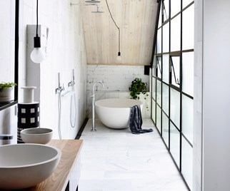 Scandinavian-style bathroom