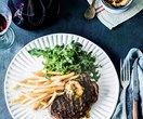 Chargrilled sirloin steak with garlic butter recipe