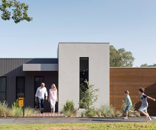 modern new build house Melbourne