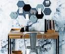 DIY hexagonal felt pinboards