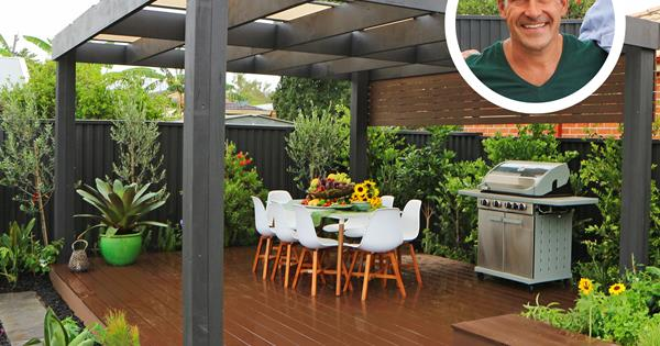 Before after jamie durie transforms a bare backyard for Jamie durie garden designs