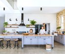 Open plan country-style kitchen