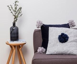 pompom cushion