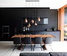 Interplay of light and dark in renovated worker's cottage