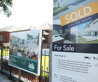 for sale sign Sydney house