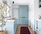 A fresh blue kitchen for an Edwardian home