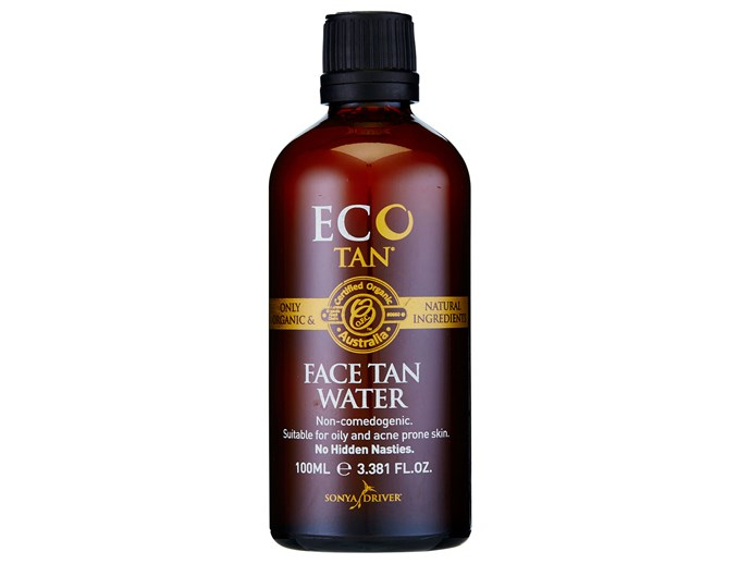 Great for oily and acne-prone skin, this non-comedogenic tanning water won't clog your pores. Soak a cotton pad and wipe the water over your face for a subtle glow. It's made from all-natural ingredients so it's great for super-sensitive skin.  [Eco Tan Face Tan Water, $29.95](https://ecotan.com.au/)
