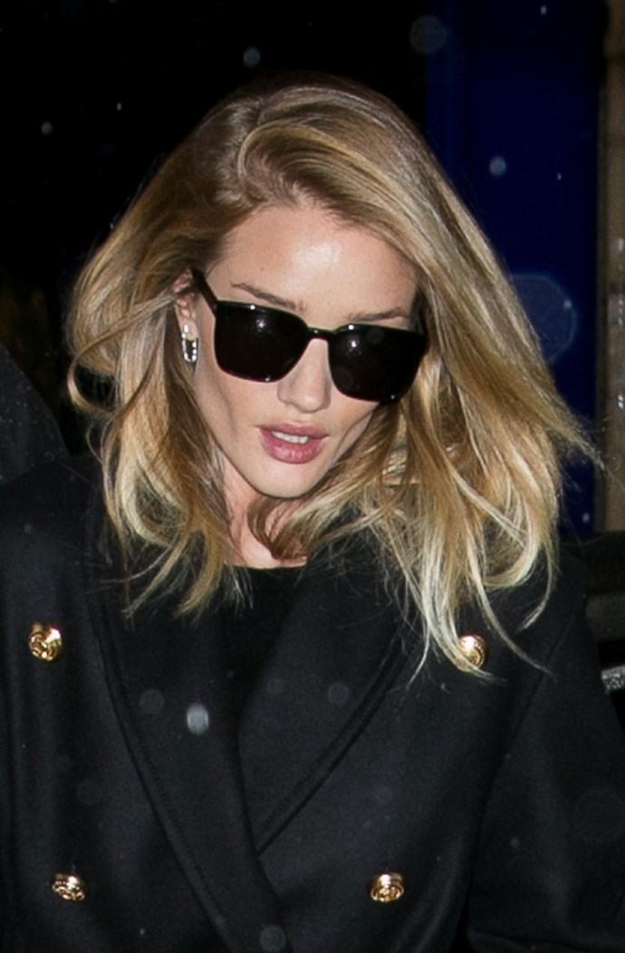 **AND... THE CLASSY PART:** Change your look by opting for an extreme side part with a loose wave. Ward says this look is perfect for second-day hair where the wave has dropped for a natural, chic style. He recommends a nourishing serum to eliminate frizz.