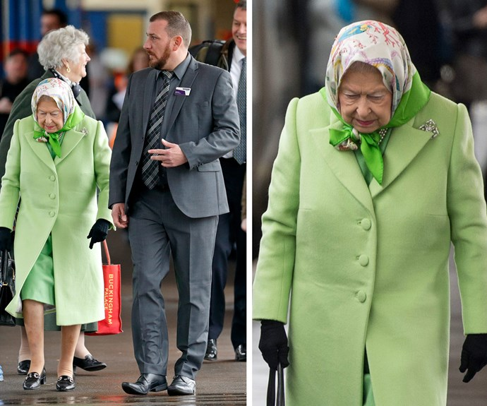 """Her Majesty never leaves the house without her trusty handbag... or her lipstick! In fact, when former US president George Bush's wife, Laura Bush, was spotted reapplying in DC, she simply quipped, """"The queen told me it was all right to do it!"""""""