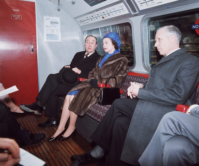 She has no qualms travelling on the tube among the locals!
