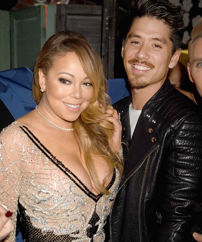 Sparks seem to be flying between Mariah and Bryan (R) on her show *Mariah's World*