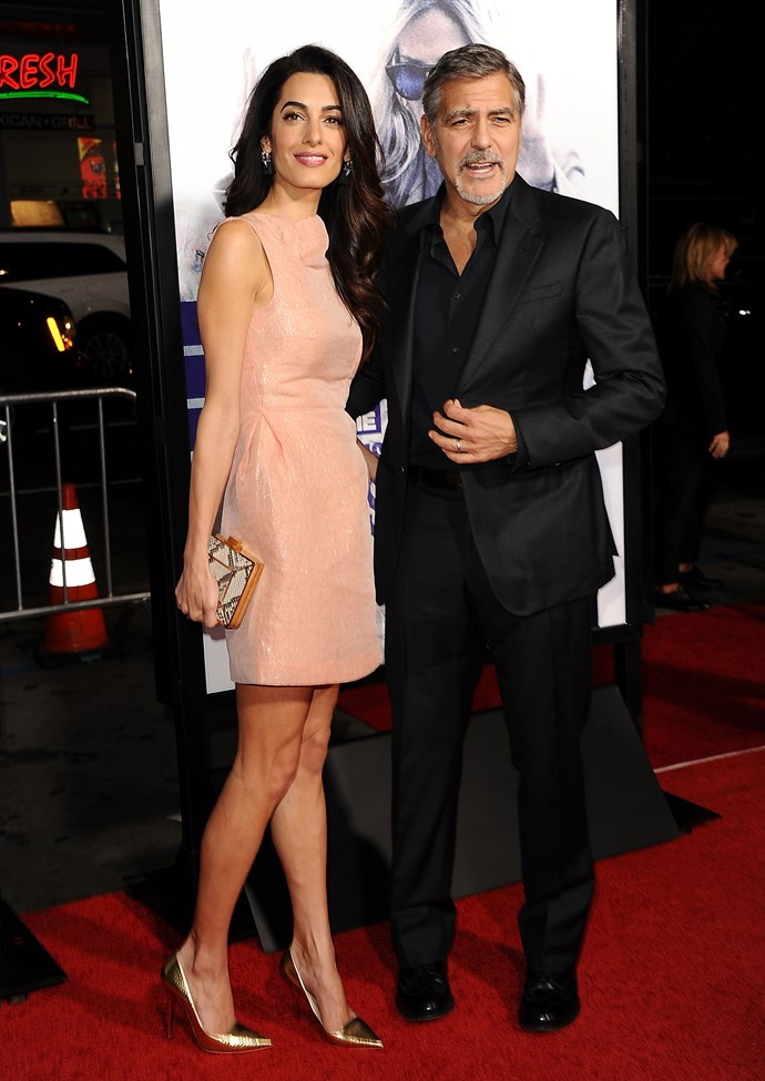 In October of 2016 everyone was looking at Amal in her cute sleeveless pink dress. Thankfully, because it seems George still hadn't quite mastered that camera technique his wife seems to be a natural at.