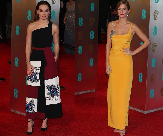 When British Hollywood royalty and the reigning queen of reality TV take on the red carpet: Daisy Ridley and Millie Mackintosh both wow.