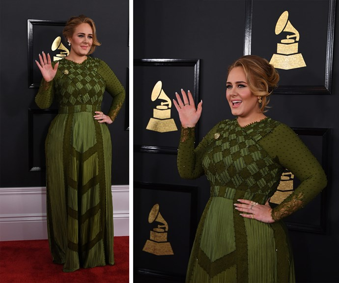 Don't panic but Adele is in the house, she's wearing green and looks flawless.