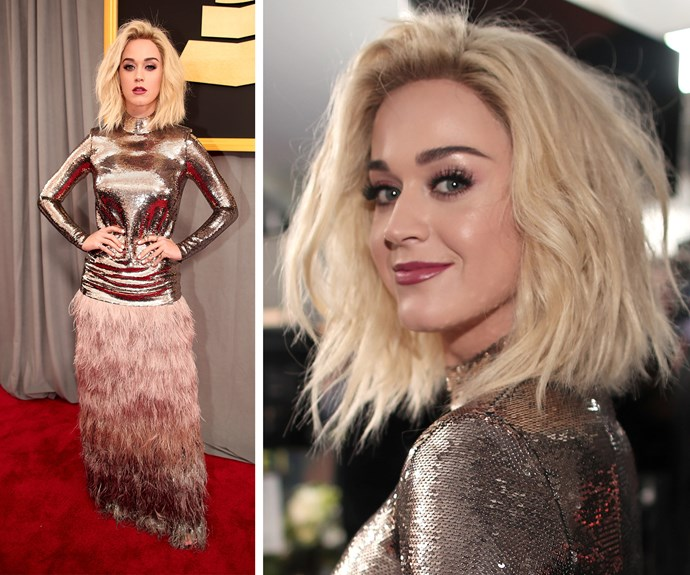 Katy Perry and her incredible new blonde locks have arrived.
