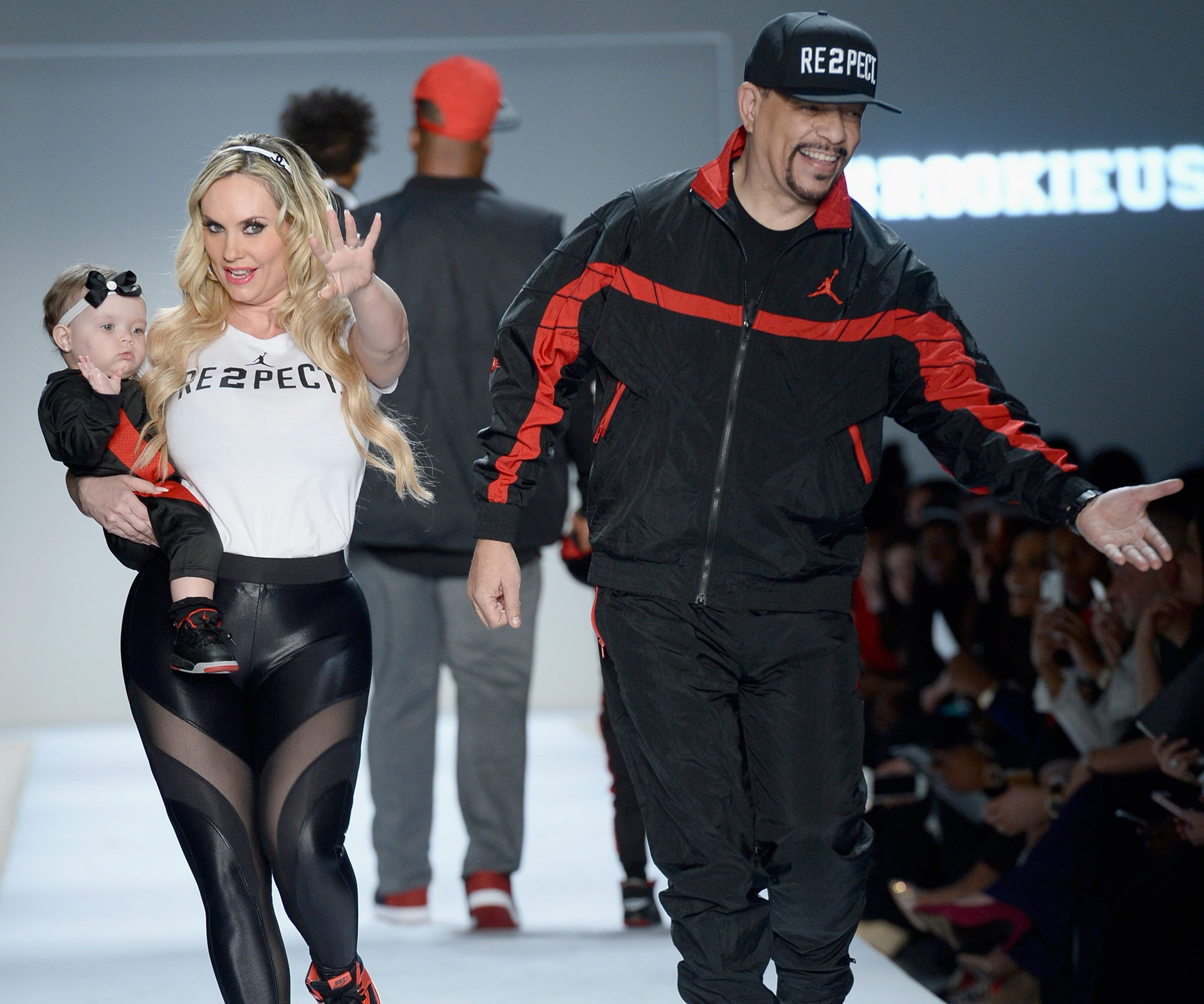 Baby's first catwalk! Coco Austin and Ice-T's daughter Chanel has made her New York Fashion Week debut, strutting her stuff down the runway dressed head-to-toe in Nike/Air Jordan.