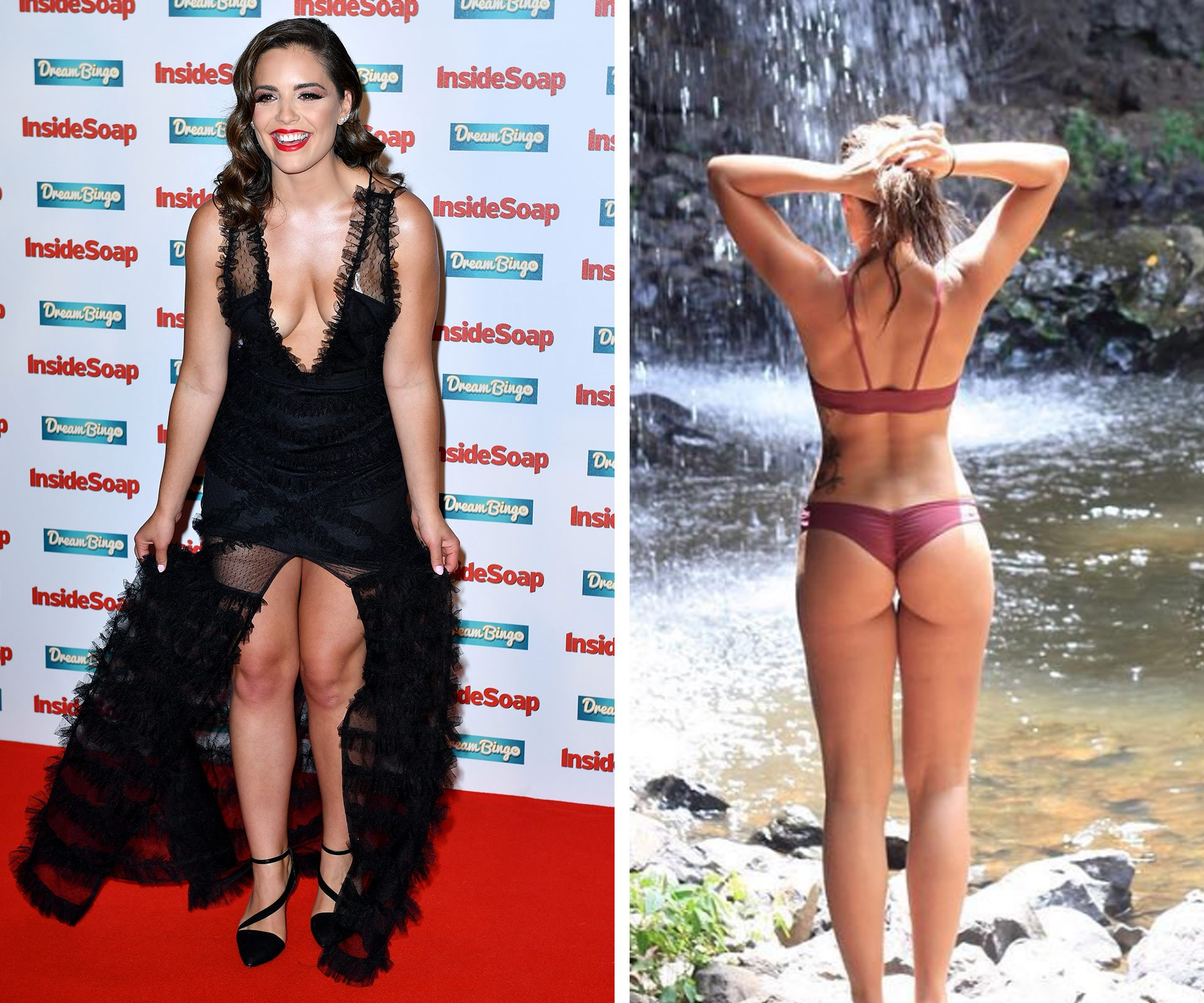 *Neighbours* star Olympia Valance has taken to Instagram with a stunning, lagoon-side snap showing off her impressive 20kg weight loss, which she achieved through a balanced diet and regular F45 training sessions.