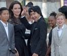 Brad who? Angelina Jolie returns to the spotlight with her six kids by her side