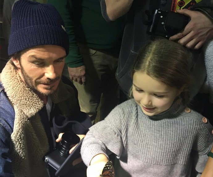 David Beckham has shared a hilarious and rare look at daughter Harper, who made a rather cheeky card for her grandma Jackie Adams. **See the clip for yourself in the next slide!**