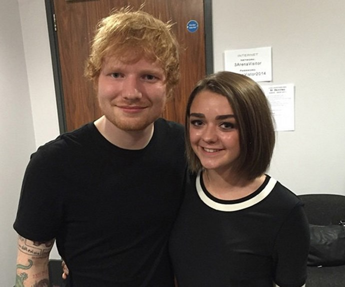Ed and GoT star Maisie Williams, who plays Arya Stark.