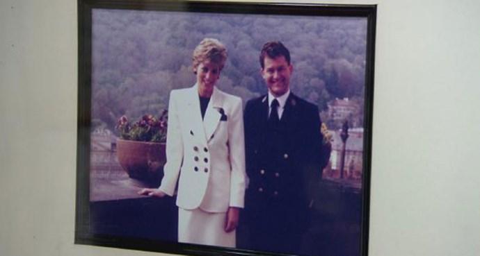 Paul with the late Princess Diana.