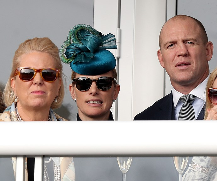Zara and Mike Tindall watch the Champion Day of the 2017 Cheltenham Festival.