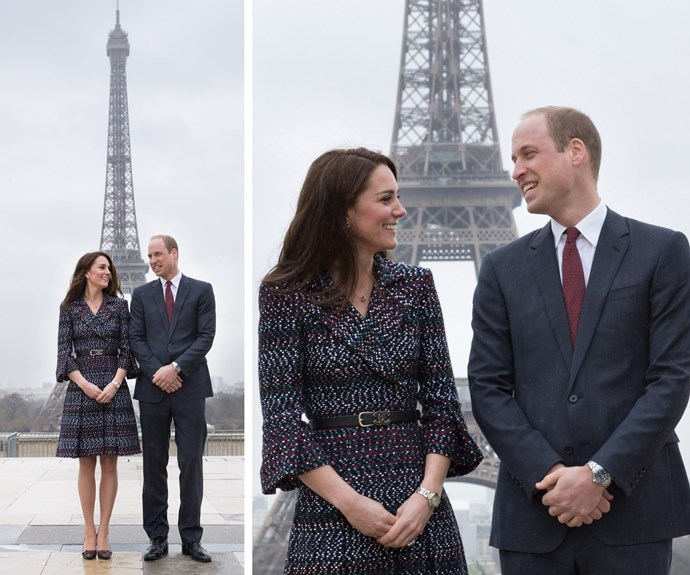 The Duke and Duchess of Cambridge landed in Paris for their first official French tour.
