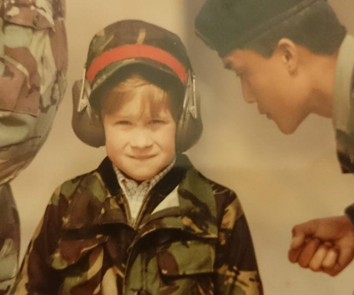 Kensington Palace shared this incredible flashback of a young Harry with the Gurkhas. A longtime supporter of the Nepalese soldiers, the 32-year-old made sure to visit them during his 2016 tour of the country.