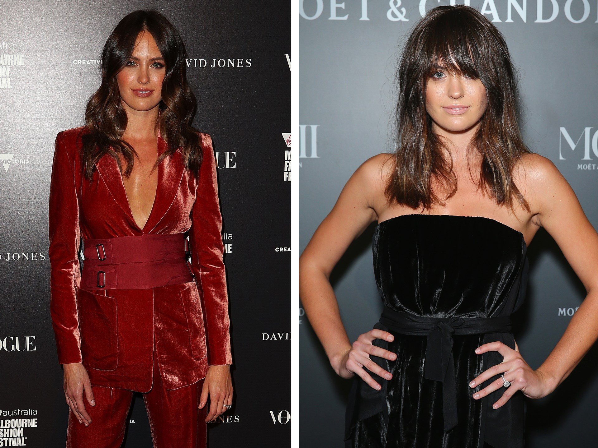 Fresh off the Melbourne Fashion Festival runway, Jesinta Franklin decided to switch up her look and rocked a shaggy [fringe](http://www.nowtolove.com.au/beauty/hair/celebrities-with-and-without-fringes-35839) at last night's Moet & Chandon MCIII Launch at the Sydney Opera House. Is it real, is it a clip-in? Guess we won't find out until her next Instagram post.