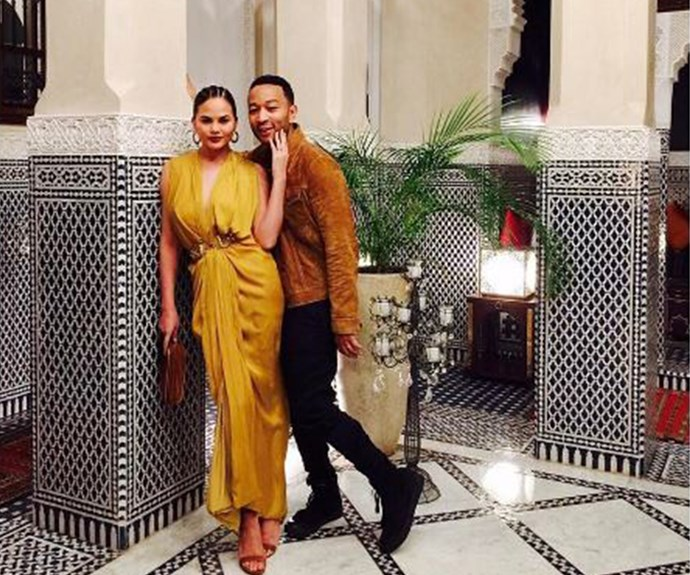 Chrissy Teigen and John Legend took a trip to Morocco recently and we literally could not have more envy.