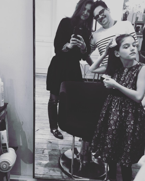 """Well this is just adorable! We love Katie and Suri's cute trip to the salon. Normally we think Suri is the spitting image of her mum (as in, her actual [doppelganger](http://www.nowtolove.com.au/celebrity/celeb-news/suri-cruise-looks-just-like-katie-holmes-28372) but she does look strikingly like rumoured-to-be [estranged father, Tom Cruise](http://www.nowtolove.com.au/celebrity/celeb-news/tom-cruise-hasnt-spoken-to-suri-in-1000-days-5562