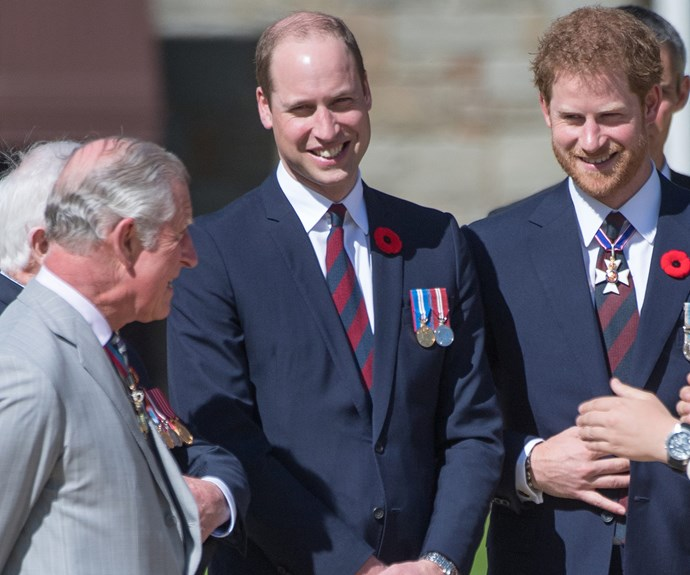 The Princes were trying very hard to keep in their chuckles thanks to the father's larrikin ways.