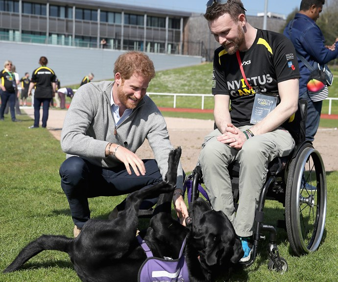 Prince Harry dropped by Bath University, where he cheered on competitors vying for a spot in this year's Invictus Games.