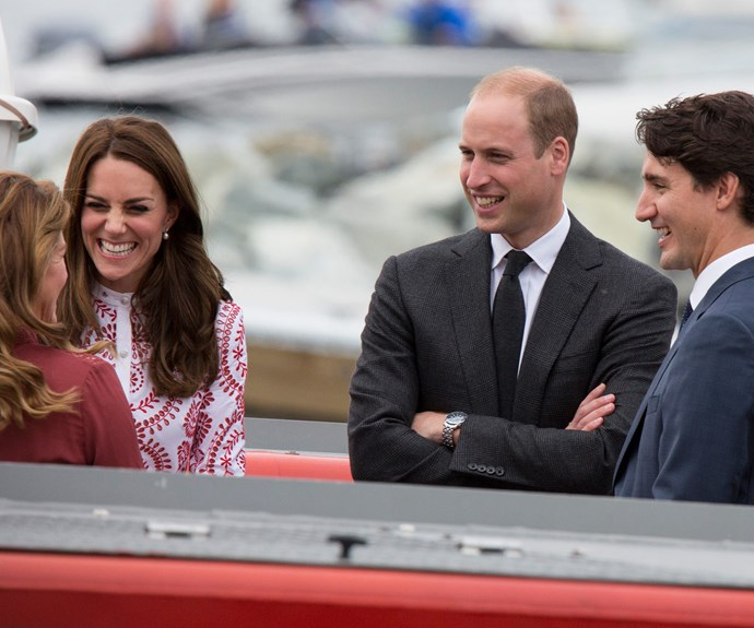 We're guessing Kate was sad to have missed Justin and Sophie, who she became good friends with following her royal tour of Canada last year.