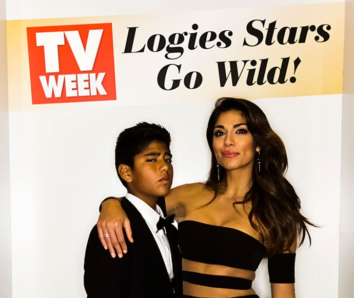 *Home And Away's* Pia Miller and her son.