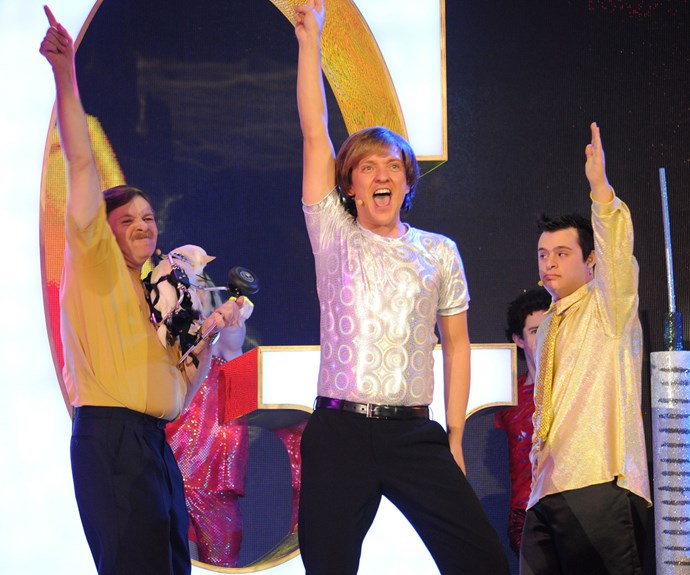 Mr G took to the stage during the 2008 TV WEEK Logie Awards.