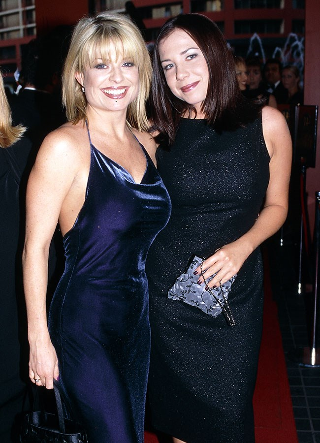 *Home And Away* co-stars Emily Symons and Kate Richie opted for dark dresses at the Logies in 1999.