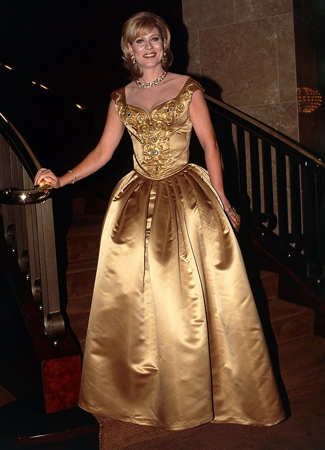Kerri-Anne Kennerley glowed in gold at the 1997 Logie Awards.