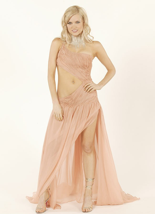 Sophie Monk went for a daring baby pink dress for the Logie Awards in 2003.