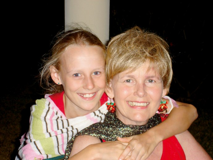 Anni and Laura celebrating Christmas together, before Anni passed away.