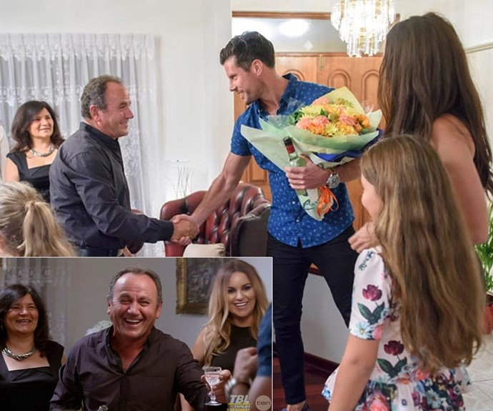 Sam met Snez's family during home visits on *The Bachelor*.