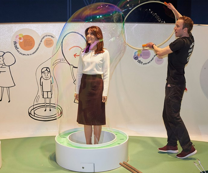 Including standing a bubble... How fabulous is that!