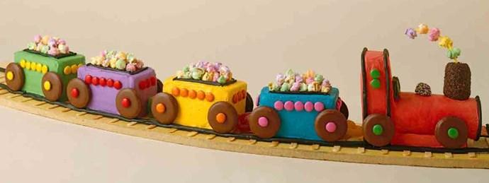 **10.** Choo-choo train. [Recipe here](http://www.foodtolove.com.au/recipes/choo-choo-train-birthday-cake-14495Recipe here)