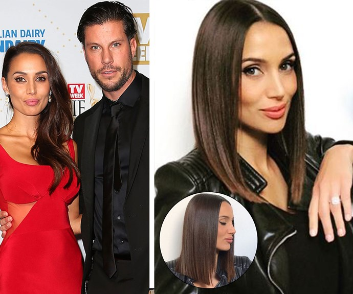 """Snezana Markoski has gone the chop. She decided to get a long bob with blunt ends, a far cry from her previous long waves. While winter is the perfect time to get rid of all your split ends and damage from summer, could this be [Snezana's wedding](http://www.nowtolove.com.au/celebrity/celeb-news/sam-wood-talks-snezana-eve-and-28-book-36823
